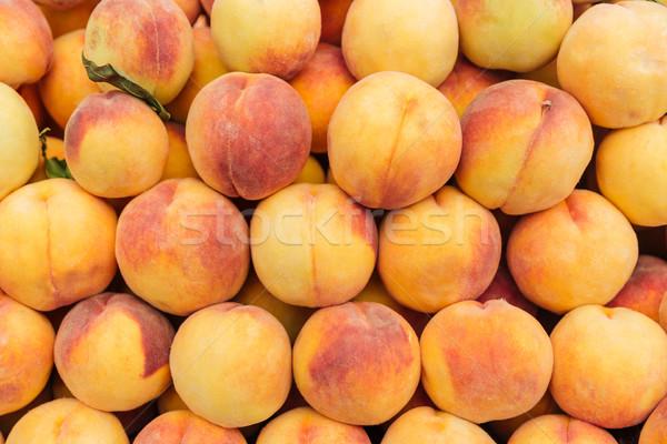 свежие зрелый персики продовольствие природы Сток-фото © deandrobot