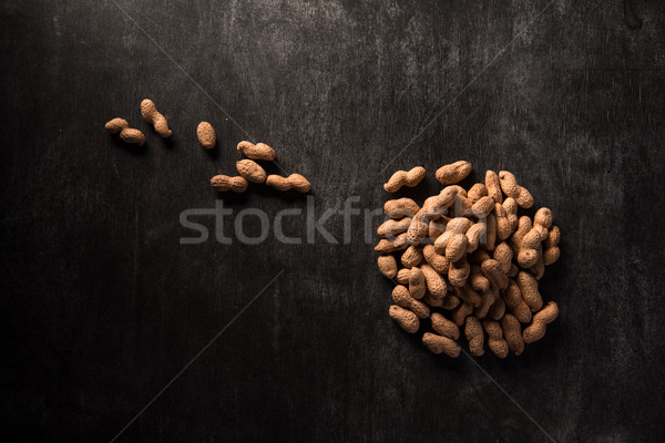Stock photo: Top view image of dried peanut
