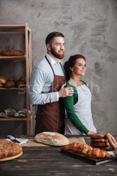 улыбаясь любящий пару Постоянный хлеб изображение Сток-фото © deandrobot