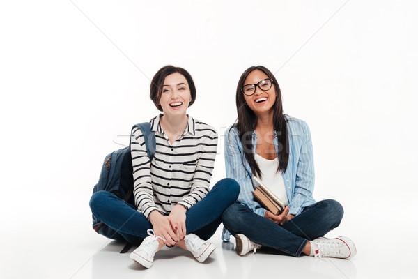 Stock fotó: Kettő · több · nemzetiségű · fiatal · női · tini · diákok