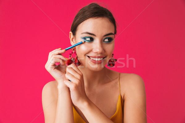 Portret prachtig stijlvol vrouw 20s Stockfoto © deandrobot