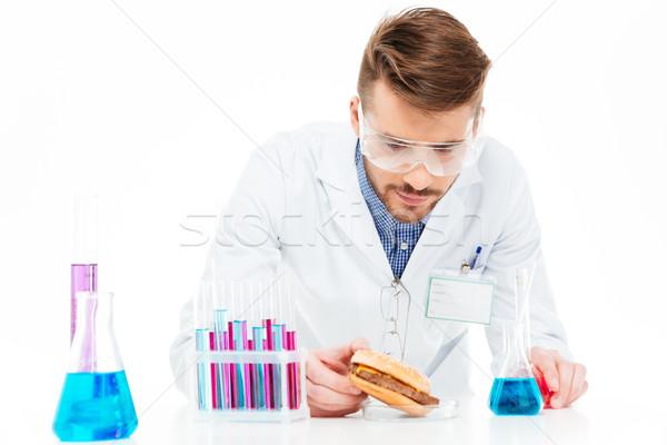 Masculino químico comida isolado branco Foto stock © deandrobot