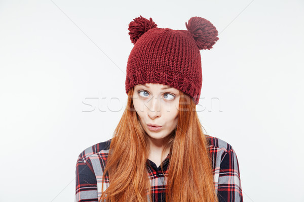 Woman with funny face Stock photo © deandrobot