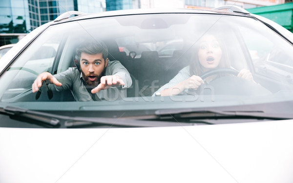 Young couple in crash Stock photo © deandrobot