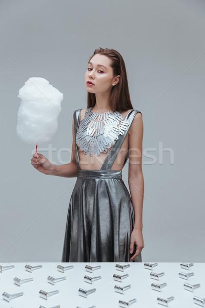 красивая женщина Top хлопка конфеты красивой Сток-фото © deandrobot