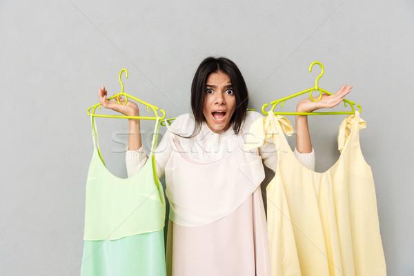 女性 ドレス 若い女性 小さな ストックフォト © deandrobot
