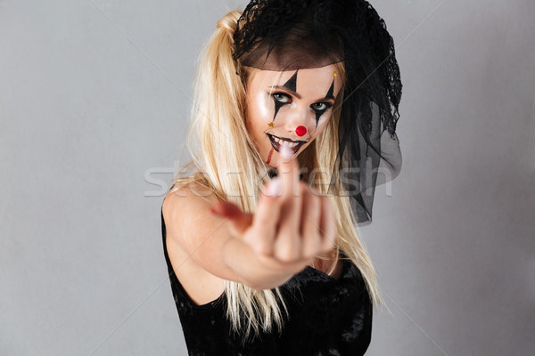 黒 未亡人 ハロウィン ストックフォト © deandrobot