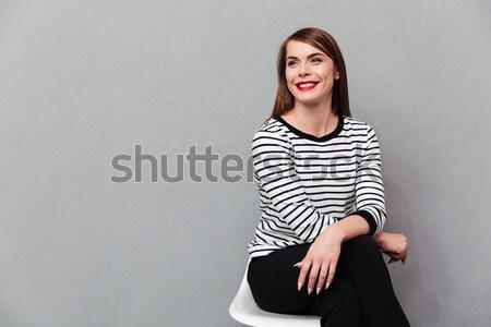 Foto stock: Retrato · sonriendo · alegre · Asia · mujer