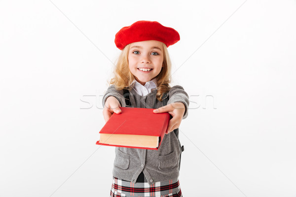 Retrato feliz pequeño colegiala uniforme Foto stock © deandrobot