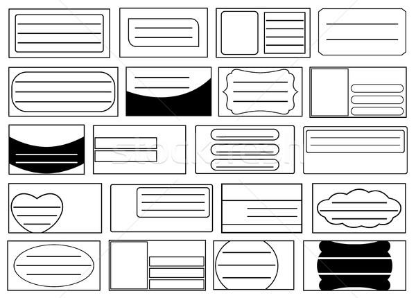 Szett különböző iskola notebook címkék izolált Stock fotó © DeCe
