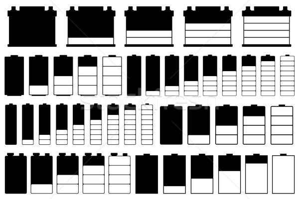 Set of different batteries Stock photo © DeCe