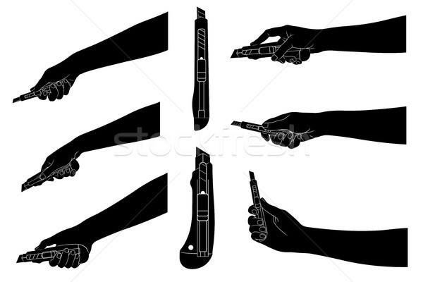 Set of different utility knives Stock photo © DeCe