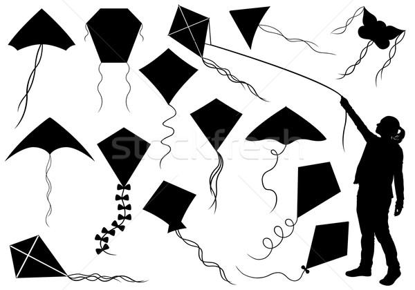 набор различный изолированный белый стороны знак Сток-фото © DeCe