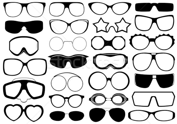 Different eyeglasses isolated Stock photo © DeCe
