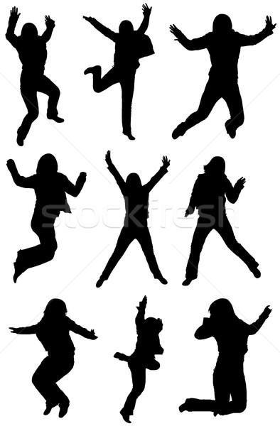 Ugrik vektor kollázs izolált fehér boldog Stock fotó © DeCe