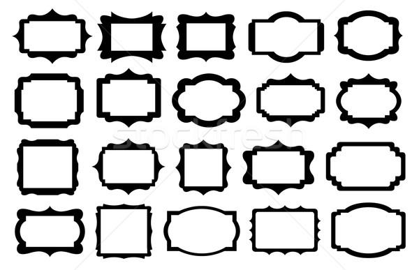 Szett különböző címkék izolált fehér terv Stock fotó © DeCe