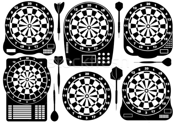 Set Of Electronic Dartboards Stock photo © DeCe