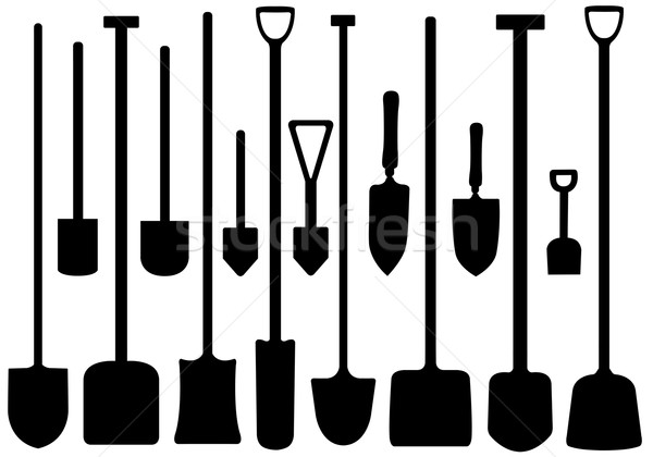 Set Of Shovels Stock photo © DeCe