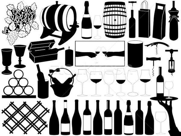 Wine Set Stock photo © DeCe