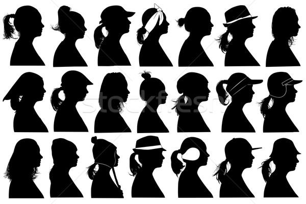 Illusztráció nők izolált fehér nő lány Stock fotó © DeCe