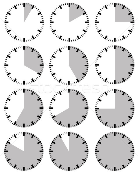 Illustration of different timers  Stock photo © DeCe
