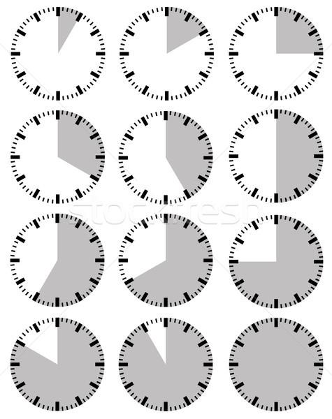Ilustración diferente aislado blanco reloj grupo Foto stock © DeCe