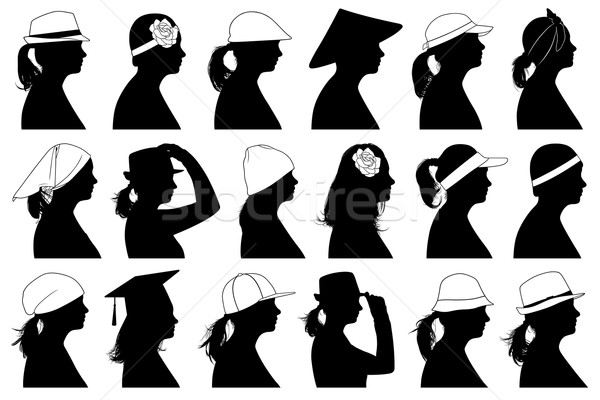 Stock fotó: Illusztráció · nők · izolált · fehér · nő · lány