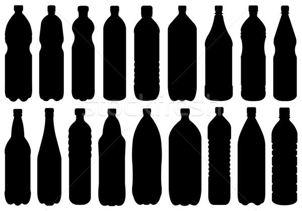 Establecer diferente botellas aislado blanco beber Foto stock © DeCe