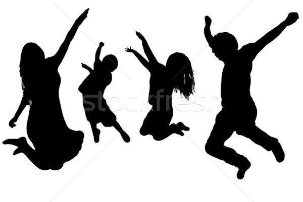 Jumping Family Stock photo © DeCe