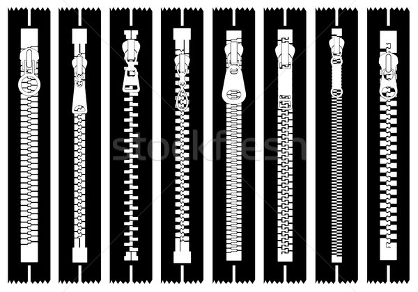Illustration of different zippers  Stock photo © DeCe