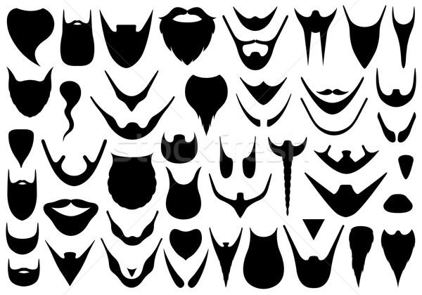 Set of different beards  Stock photo © DeCe