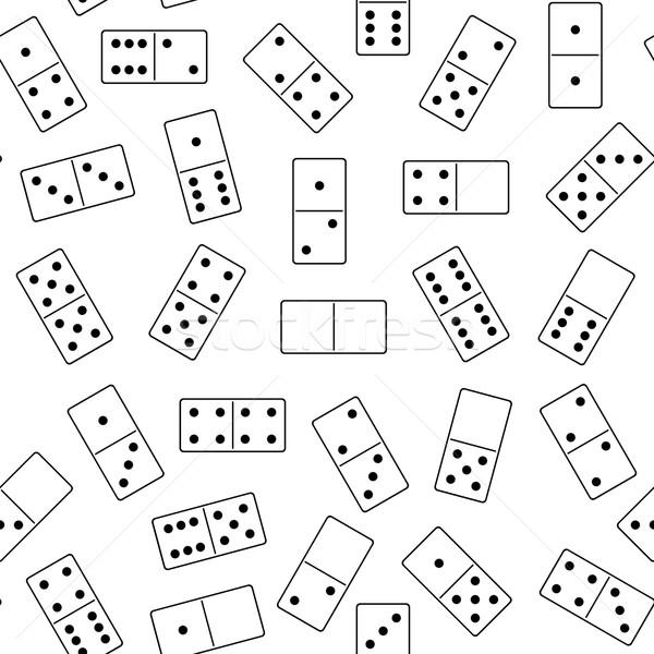 Végtelenített dominó izolált fehér háttér jókedv Stock fotó © DeCe