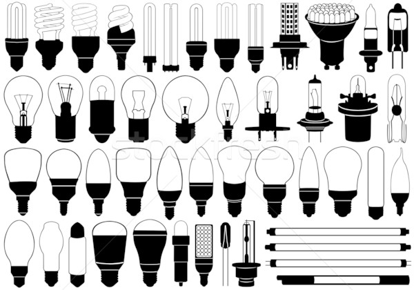 Light bulbs set Stock photo © DeCe