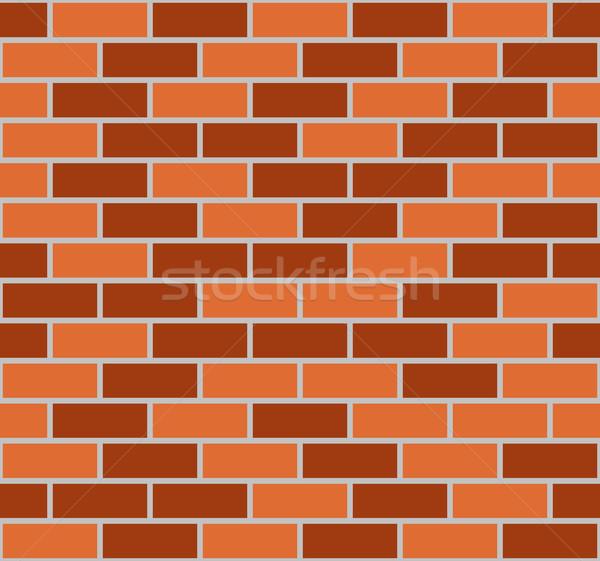 Illustration of brown seamless brick wall Stock photo © DeCe