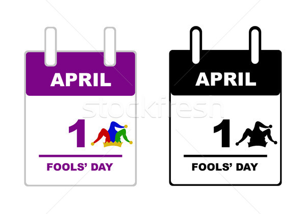 April Fools' Day calendar  Stock photo © DeCe