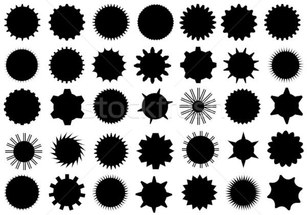 Stock fotó: Különböző · viselet · formák · izolált · fehér · felirat
