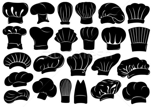 Set of different chef hats Stock photo © DeCe