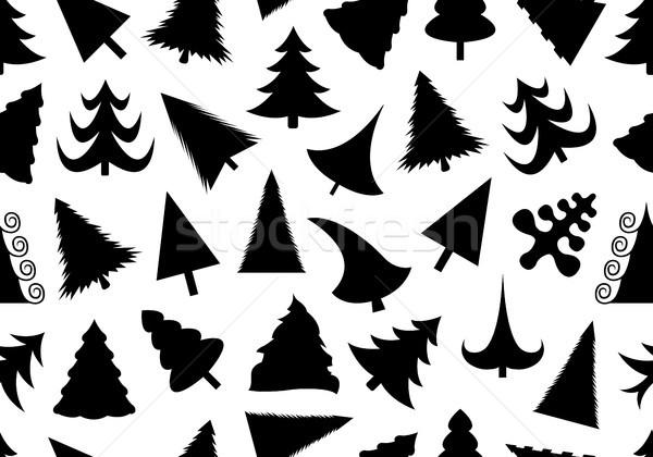 Karácsonyfa végtelenített illusztráció izolált fehér textúra Stock fotó © DeCe
