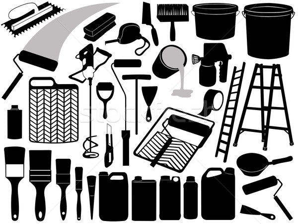 Illustration Of Different Painting Objects Stock photo © DeCe