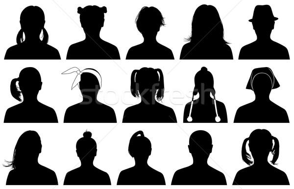 実例 女性 肖像 孤立した 白 女性 ストックフォト © DeCe