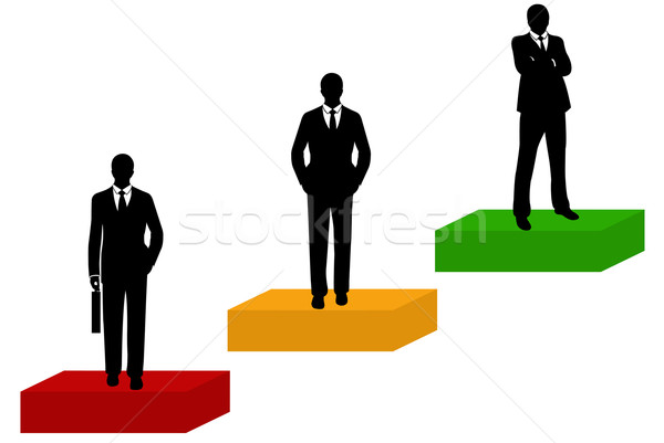 Businessmen Silhouette Stock photo © DeCe
