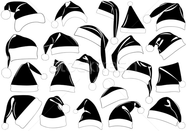 Set of Christmas hats Stock photo © DeCe