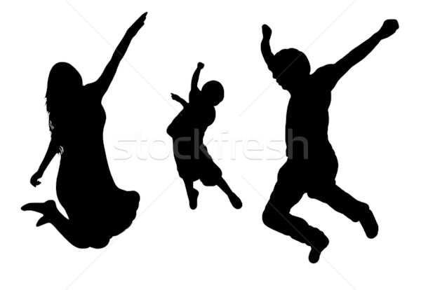 Stock photo: Jumping Family