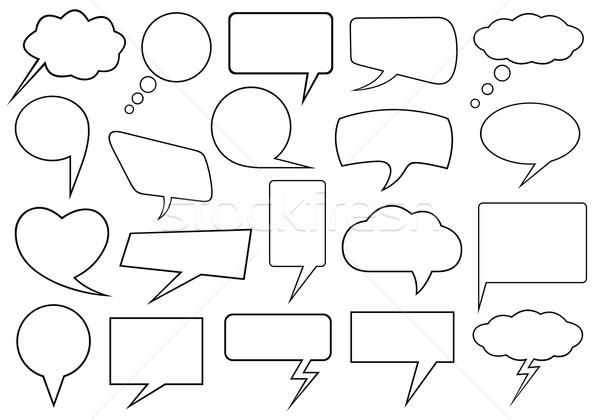 Szett különböző szövegbuborékok izolált fehér kommunikáció Stock fotó © DeCe