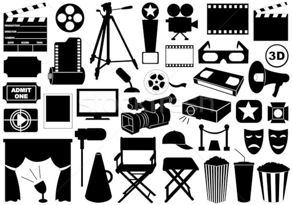 Stock fotó: Film · elemek · izolált · fehér · film · monitor
