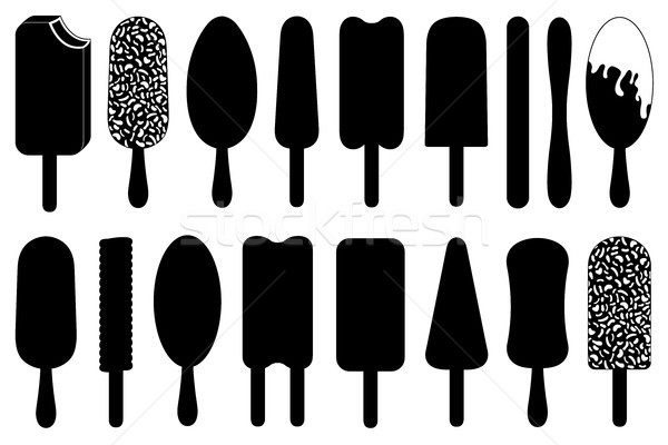 Set of different ice cream lolly  Stock photo © DeCe