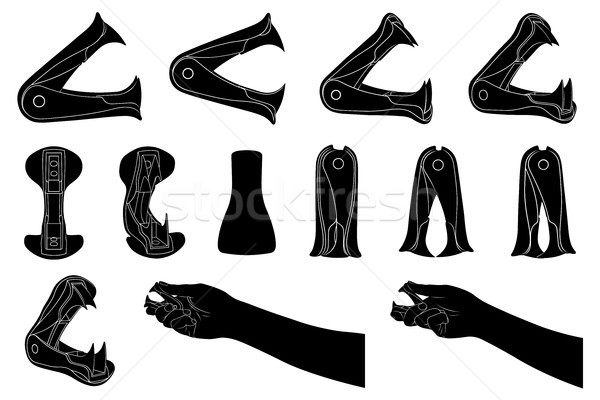 Set of different staple removers isolated  Stock photo © DeCe