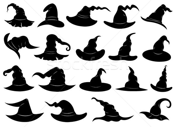 Illustration of different witch hats  Stock photo © DeCe