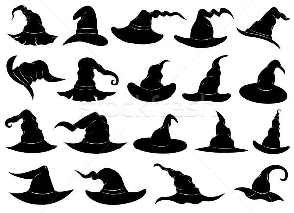 Ilustración diferente bruja aislado blanco Foto stock © DeCe