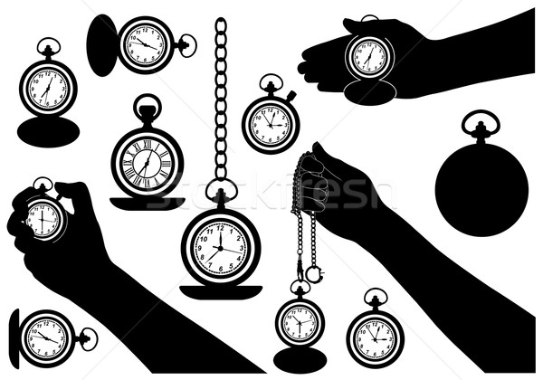 Set of different pocket watches Stock photo © DeCe
